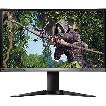 Lenovo Y27f 68,58 cm (27 Zoll Full HD matt) Curved Monitor (HDMI, DisplayPort, 4ms Reaktionszeit, AMD FreeSync) schwarz