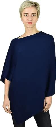 1stAmerican Maglia Poncho 100% Puro Cashmere Made in Italy da Donna - Finezza 12