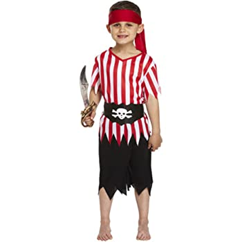 BOYS PIRATE FANCY DRESS COSTUME DECKHAND KIDS CHILDS OUTFIT CAPTAIN NEW SEA