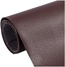 Lesirit One Yard Self-Adhesive Sofa Leather Repair Patch for Car Seat (A-Deep Brown)