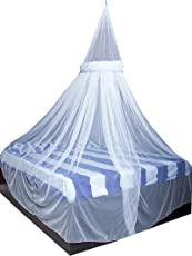 Creative Textiles Stylish White Color Mosquito Net Size:- Double Bed
