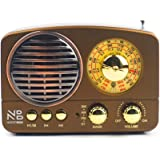 Noizzy Box Retro XS Vintage Classic Portable Bluetooth Speaker with LED Light/Display/FM Radio/Support Micro TF SD Card…