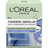 L'Oréal Paris Tonerde Absolue Anti-onzuiverheden masker, verpakking van 2 stuks (2 x 15 ml)