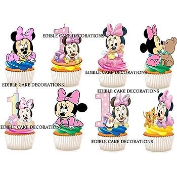 30 X 1 Geburtstag Madchen Minnie Mouse Party Stand Up Essbare