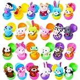 Harxin Marionette da Dita Uova di Pasqua, 24pz Burattini con Le Mani Set Burattini Animali Giocattoli Bambole sveglie…