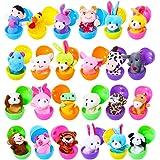 Harxin Marionette da Dita Uova di Pasqua, 24pz Burattini con Le Mani Set Burattini Animali Giocattoli Bambole sveglie,Ideali
