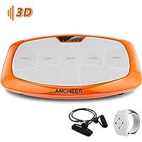 ANCHEER 3D Fitness Vibrationsplatte mit Ultra-breite Oberflächen, Ganzkörper Training Sport rüttelplatte Slim Vibration…
