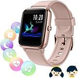 Smartwatch Bambini Regali per Ragazzi,Orologio Fitness Tracker Donna,Smartwatch Uomo con Cardiofrequenzimetro da Polso,Imperm