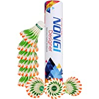 NONGI Designer Feather Badminton Shuttlecocks for Outdoor and Indoor Sports