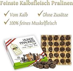 Alto-Petfood - Premium Hunde-Pralinen vom Kalb | in Hochwertiger Geschenk-Box | 100% Naturprodukt | Besondere Hundeleckerlies, Adventskalender, Geburtstag Box