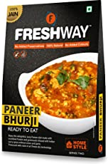 FRESHWAY Ready to Eat Freeze Dried Jain Paneer Bhurji with No Added Preservatives & Colors