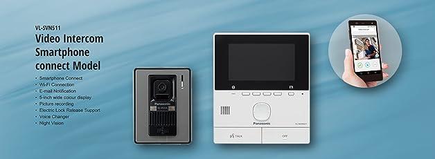 Panasonic video intercom system with smartphone connect (VL-SVN511SX)