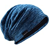 VECRY Uomo Slouchy Beanie Knit Zucchetto Lungo Gonfio Foderato Inverno Estate Cappelli