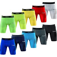 Didoo Base layer shorts men (single pack) Lycra Compression Cycling Boxer Briefs Underwear Gym Tights Fitness Running…
