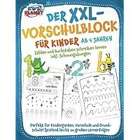 Der XXL-Vorschulblock für Kinder ab 4 Jahren: Zahlen und Buchstaben schreiben lernen inkl. Schwungübungen. Perfekt für…