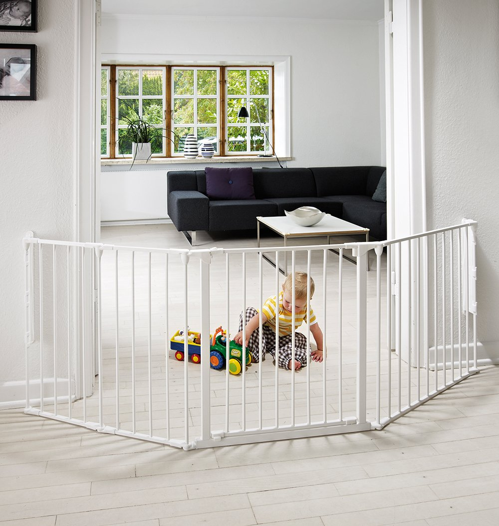BabyDan Configure (Large 90-223cm, White)  Only configure system fulfilling newest European safety standard Multi purpose room divider and gate for wider openings Flexible and easy to fit 7