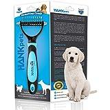 HANK Dematting Comb Deshedding Undercoat Grooming Brush   2 Sided Dog Cat Shedding Rake   Pet Hair Trimmer Tool   Easy…