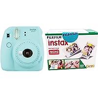 Fujifilm Instax Mini 9 Instant Camera (Ice Blue) with Film (60 Shots)