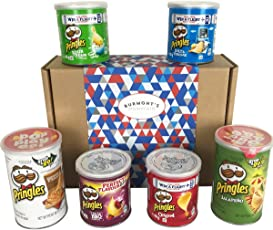 The Ultimate Pringles Crisps Selection Hamper Gift Box - Includes Pizza, Texas BBQ, Jalapeño & More - Hamper Exclusive To Burmont's