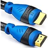 deleyCON 30m Câble HDMI Actif avec Egaliseur D'Extension D'Amplificateur UHD 2160p 4K@30Hz 3D Full HD 1080p@60Hz Arc Haute Vi