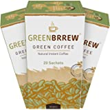 Greenbrrew Natural Instant Green Coffee For Weight Loss (20 Sachets X Pack Of 3)