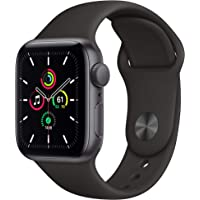 New Apple Watch SE (GPS, 40mm) Space Gray Aluminum Case with Black Sport Band