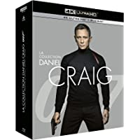 James Bond 007-La Collection Daniel Craig : Casino Royale + Quantum of Solace + Skyfall + Spectre [4K Ultra HD + Blu-Ray…