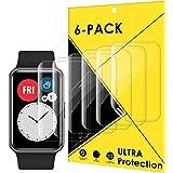 CAVN Protector pantalla compatible con Huawei Watch Fit/HONOR Watch ES, 6 Piezas cobertura completa flexible protector pantal