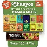 Chaayos Instant Tea Premix - Low Sugar - Masala Tea Flavour (15 Sachets) | Masala Tea Powder | Masala Chai | Premix Ready Mix