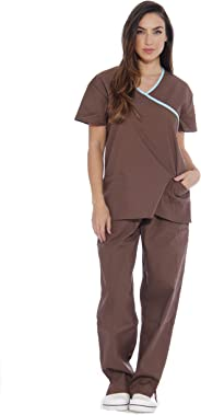 Just Love Women's Scrub Sets Medical Scrubs (Mock Wrap)