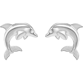 a5c803a2 Tuscany Silver Sterling Silver Dolphin Stud Earrings