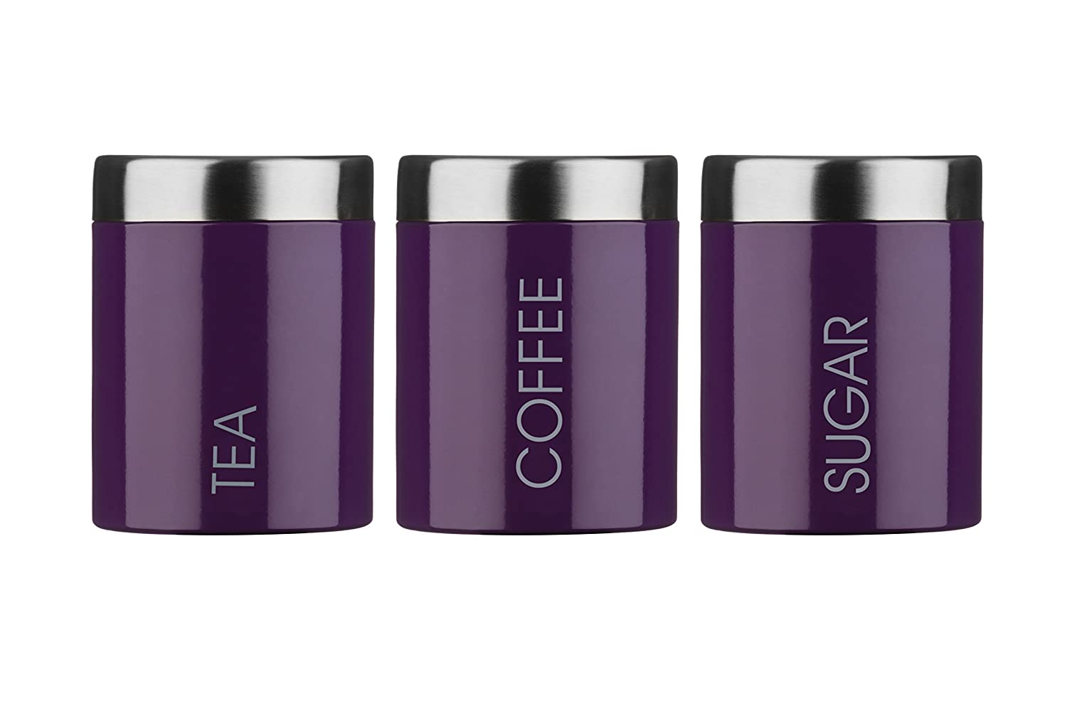 Purple Kitchen Canister Sets Premier Housewares Liberty Tea Coffee And Sugar Canisters