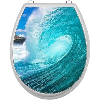 Bullauge Türaufkleber Tür Aufkleber Fische Unterwasser WC Toilette Bad Dekor