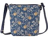 Signare Tapisserie Kleine Tasche Damen, Handtasche Damen Klein, Reisepass Tasche, Mini Handtasche mit Blumenmustern (Austen B