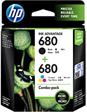 HP X4E78AA 680 Combo-Pack Black & Tri-Color Ink Cartridges