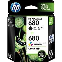 HP 680 Ink Cartridges Combo Pack (1 Black Cartridge + 1 tri-Color Cartridge)