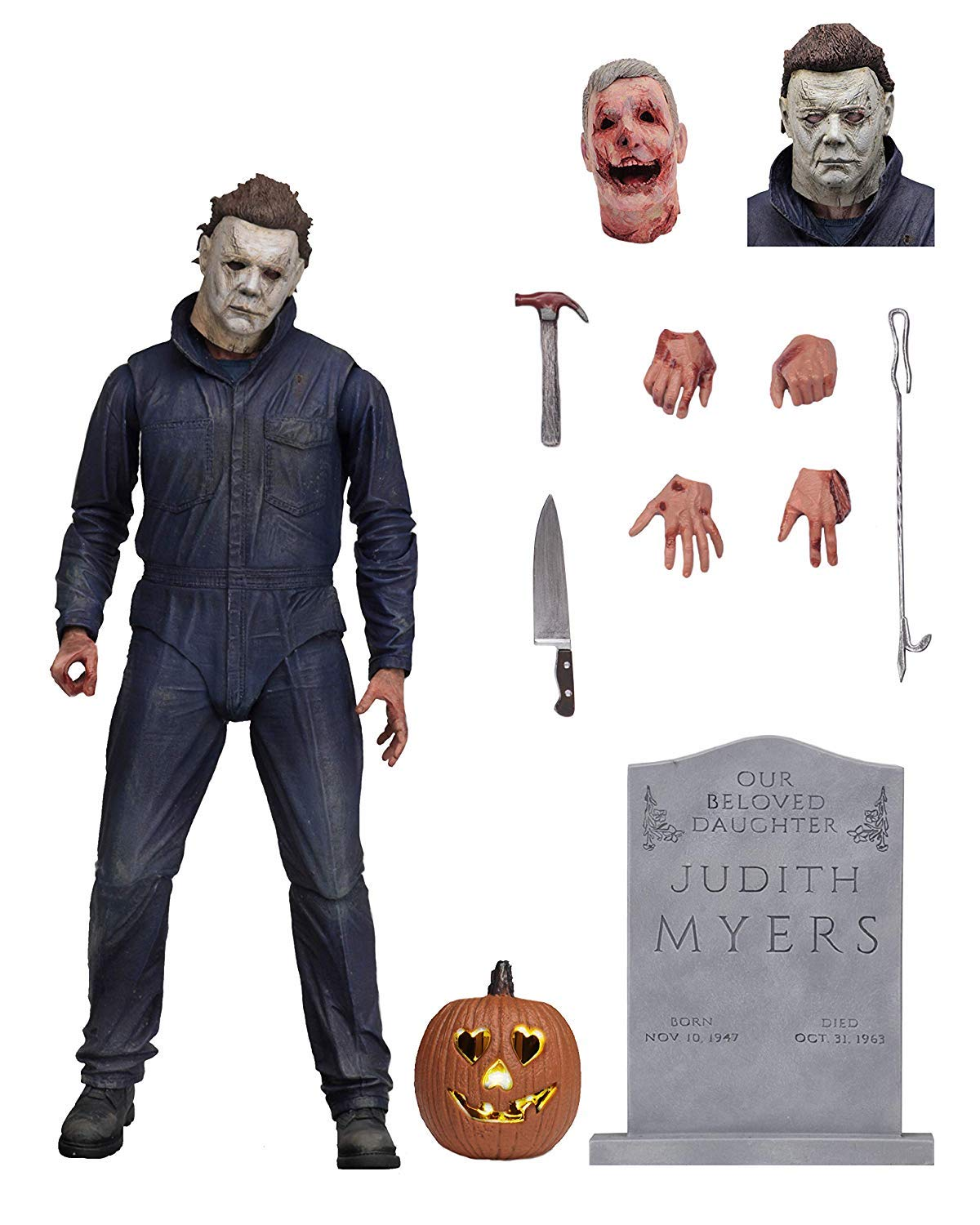 NECA-Halloween-2018-Movie-Ultimate-Michael-Myers-18cm-Scale-Action-Figure