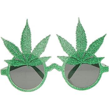 5cc2f07f64e1ea Sharplace Lunettes de Soirée Carnaval Feuille Accessoire Déguisements  Halloween Vert