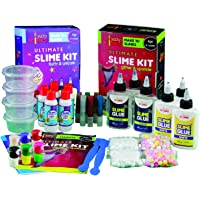 Yucky Science 41 Pieces Ultimate Slime Making Kit for Kids Combo Pack of 2 - Glitter & Sparkle. Unicorn & Fluffy. Make…