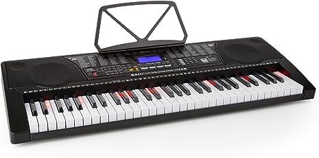 Schubert Etude 225 USB • Keyboard • Lern-Keyboard • 61 tasti • tasti luminosi • sensitive touch • registrazione • playback • 3 modalità apprendimento • 50 canzoni demo • 255 voci • casse stereo • nero