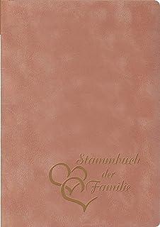 Herzpr/ägung Silber Stammbuchformat Velours StammbuchDU /& ICH grau