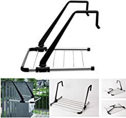 ASkyl Stainless Steel Cloth Drying Stand Foldable for Window and Balcony