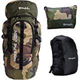 Mufubu Presents 45 Ltr Camouflage Bag    Travel Backpack    Outdoor Sport Camp Hiking Trekking Bag    Camping Rucksack with R
