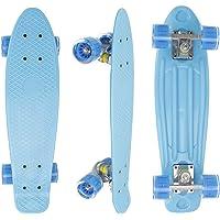 """Eseewin 22""""x6 Mini Cruiser Skateboard Completo per Principianti Ragazzi Adolescenti Ragazze Ragazzi con Ruote a LED"""