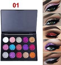 15 Colors Shimmer Glitter Eye Shadow Powder Palette Matte Eyeshadow Cosmetic Makeup (A)