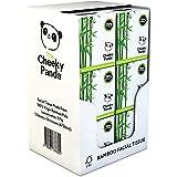 The Cheeky Panda – Mouchoirs en Bambou | Carton Vrac de 12 Boîtes (56 Mouchoirs par Boîte, 672 Mouchoirs au Total) | Boîte Cu