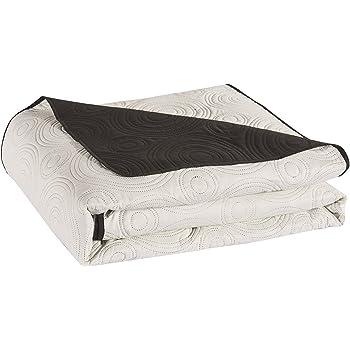 decoking 29862 tagesdecke 170 x 210 cm schwarz wei bett berwurf zweiseitig pflegeleicht black. Black Bedroom Furniture Sets. Home Design Ideas