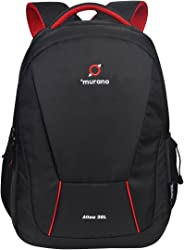 MURANO Polyester 32 Ltr Black Laptop Backpack