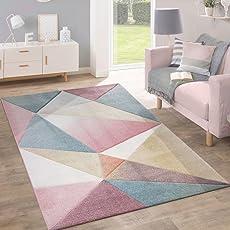 Elegant Paco Home Teppich Kurzflor Modern Trendig Pastell Geometrisches Design  Inspiration Multi