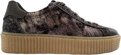 Nero Giardini - Sneakers Basse Donna in Pelle con Platform - Bronzo Metallizzato A806692D 441 - A806692D 441 - Bronzo, 38